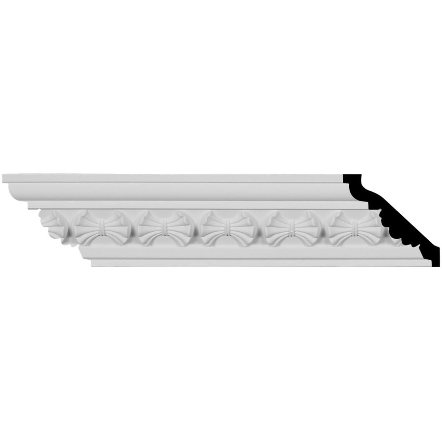 Ekena Millwork 3.125-in x 7.875-ft Primed Urethane Crown Moulding