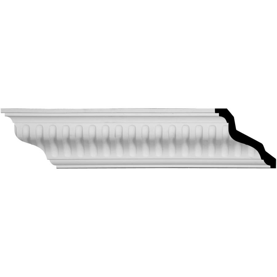 Ekena Millwork 4.75-in x 8.01-ft Primed Urethane Linus Crown Moulding