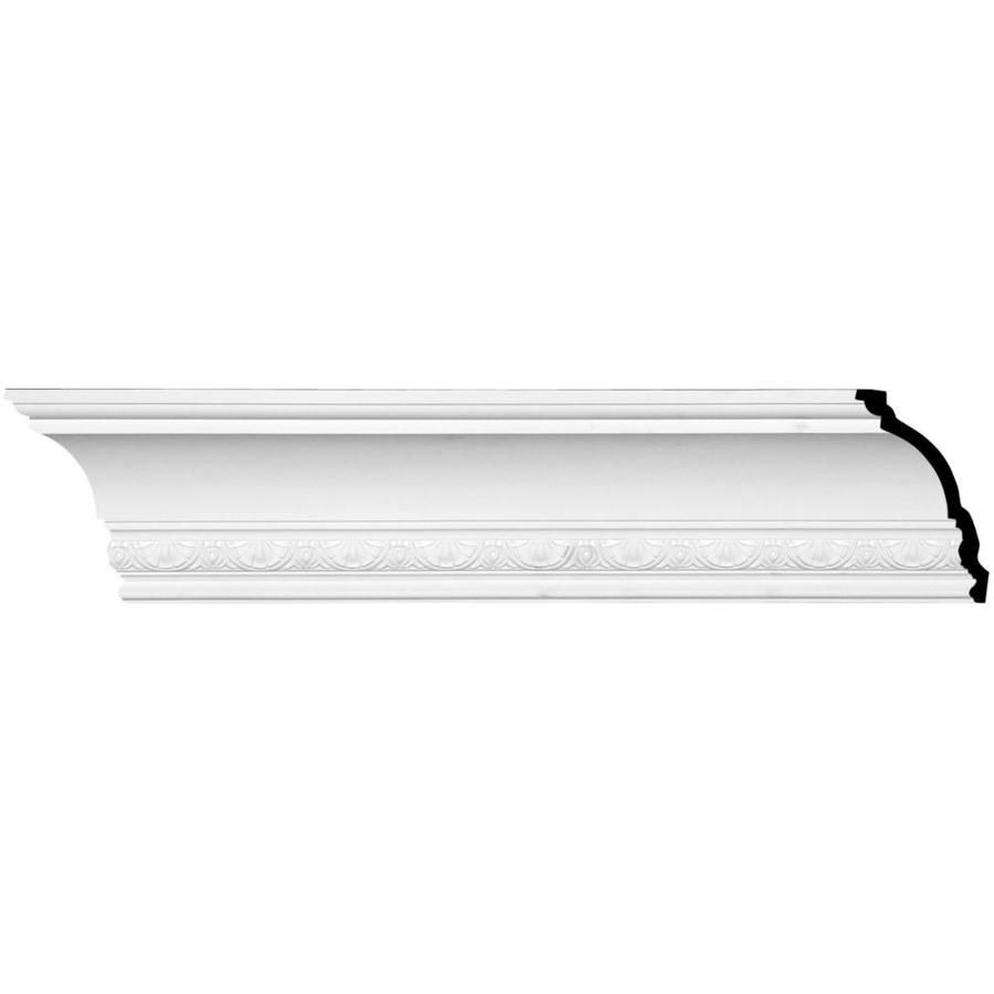 Ekena Millwork 5.5-in x 8.01-ft Primed Urethane Shell Crown Moulding