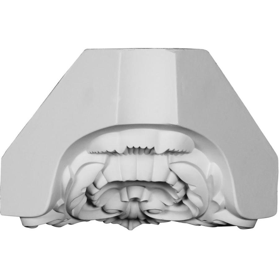 Ekena Millwork Shell 5.875-in x 8.25-in Urethane Inside Corner Crown Moulding Block