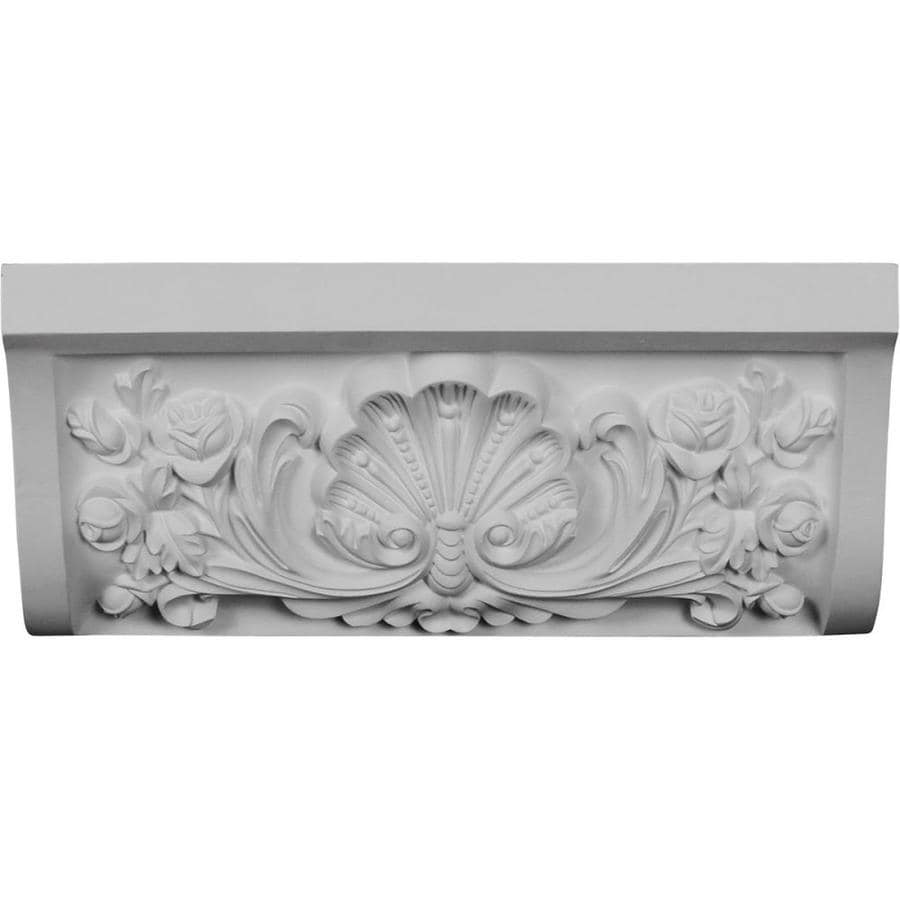 Ekena Millwork Shell 7-in x 16.625-in Primed Urethane Mid Crown Moulding Block
