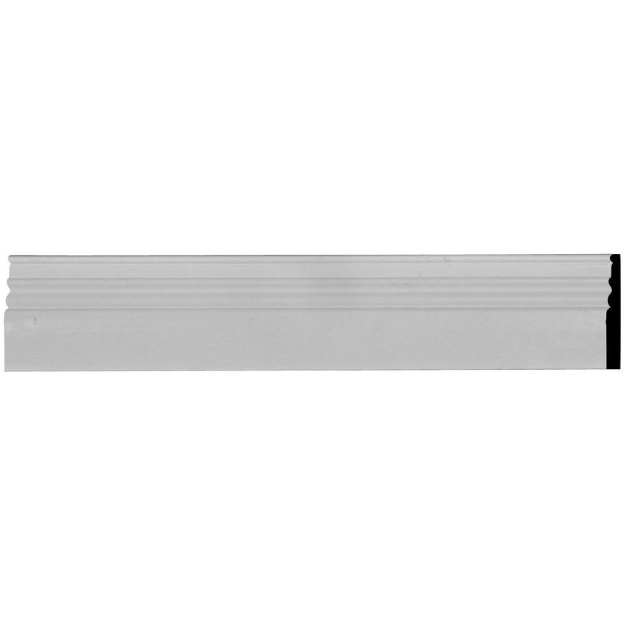 Ekena Millwork Federal 5.875-in x 7.875-ft Interior/Exterior Primed Urethane Baseboard Moulding