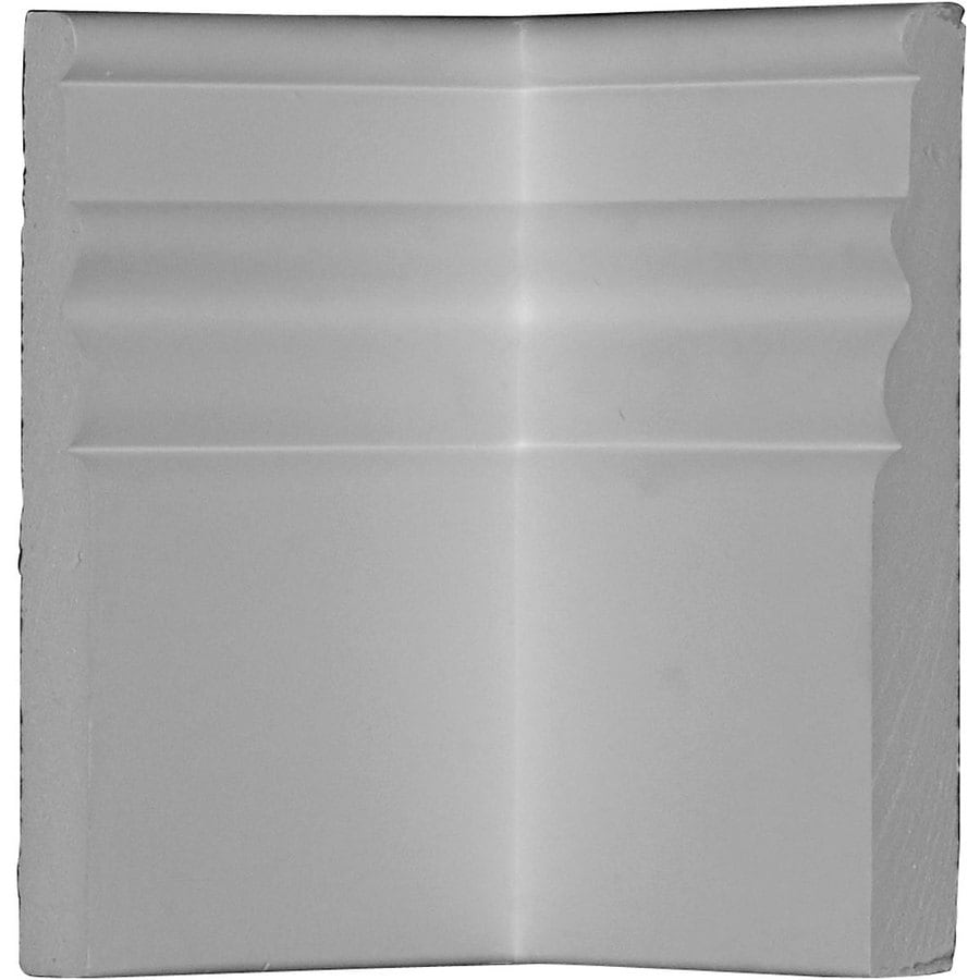 Ekena Millwork Federal 4-in x 5.875-ft Interior/Exterior Primed Urethane Baseboard Moulding