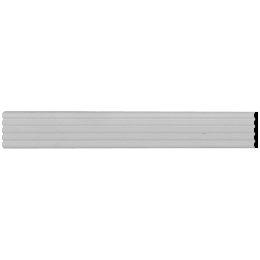 Ekena Millwork Fluted 3-in x 7.875-ft Primed Urethane Connector Wall Panel Moulding
