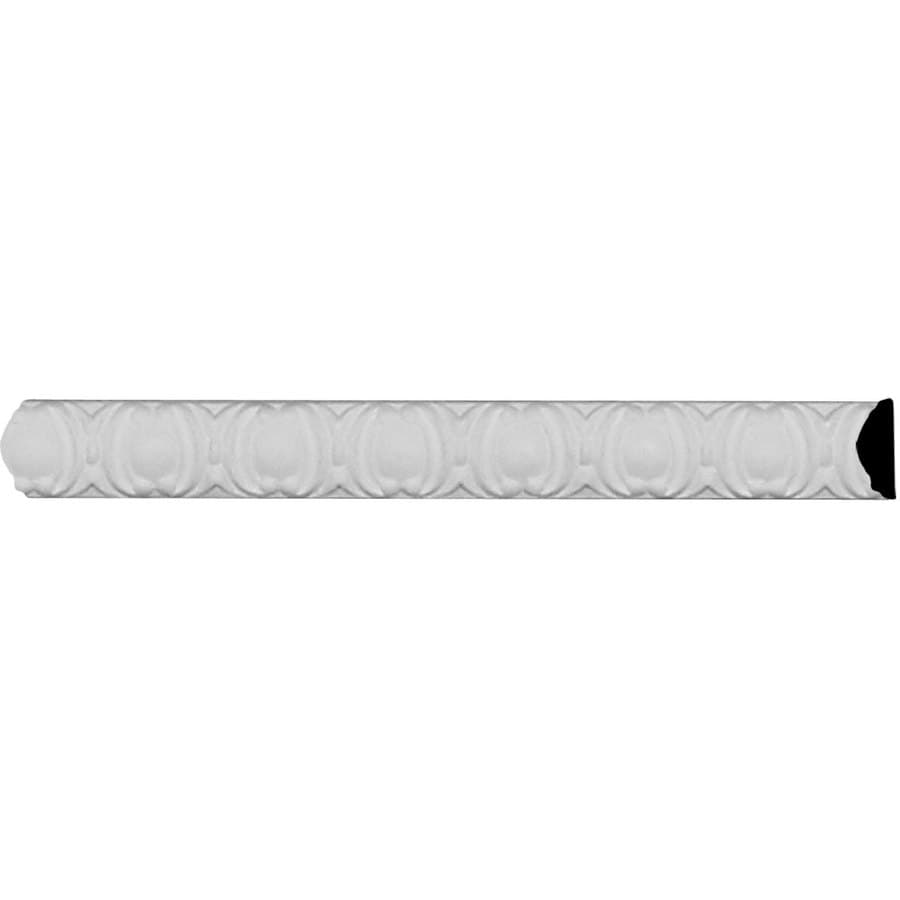 Ekena Millwork Egg and Dart 0.375-in x 8.01-ft Primed Urethane Connector Wall Panel Moulding