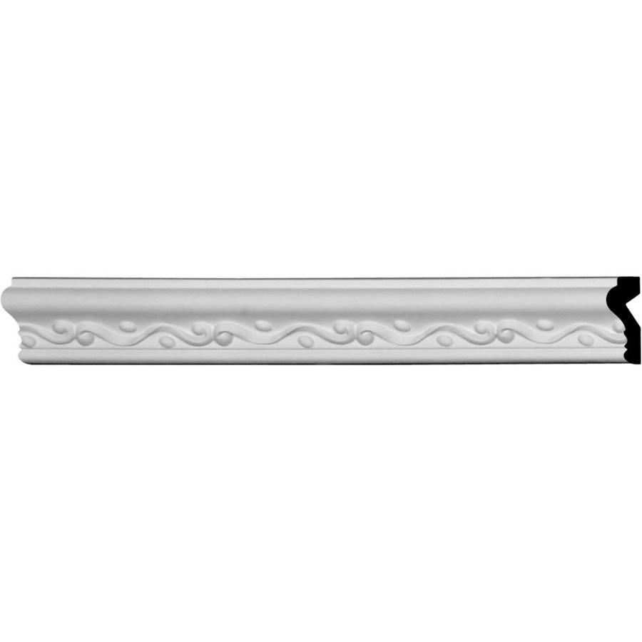 Ekena Millwork 2-in x 7.875-ft Primed Urethane Florence Chair Rail Moulding