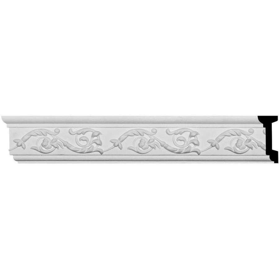 Ekena Millwork 3.125-in x 7.875-ft Primed Urethane Versailles Chair Rail Moulding