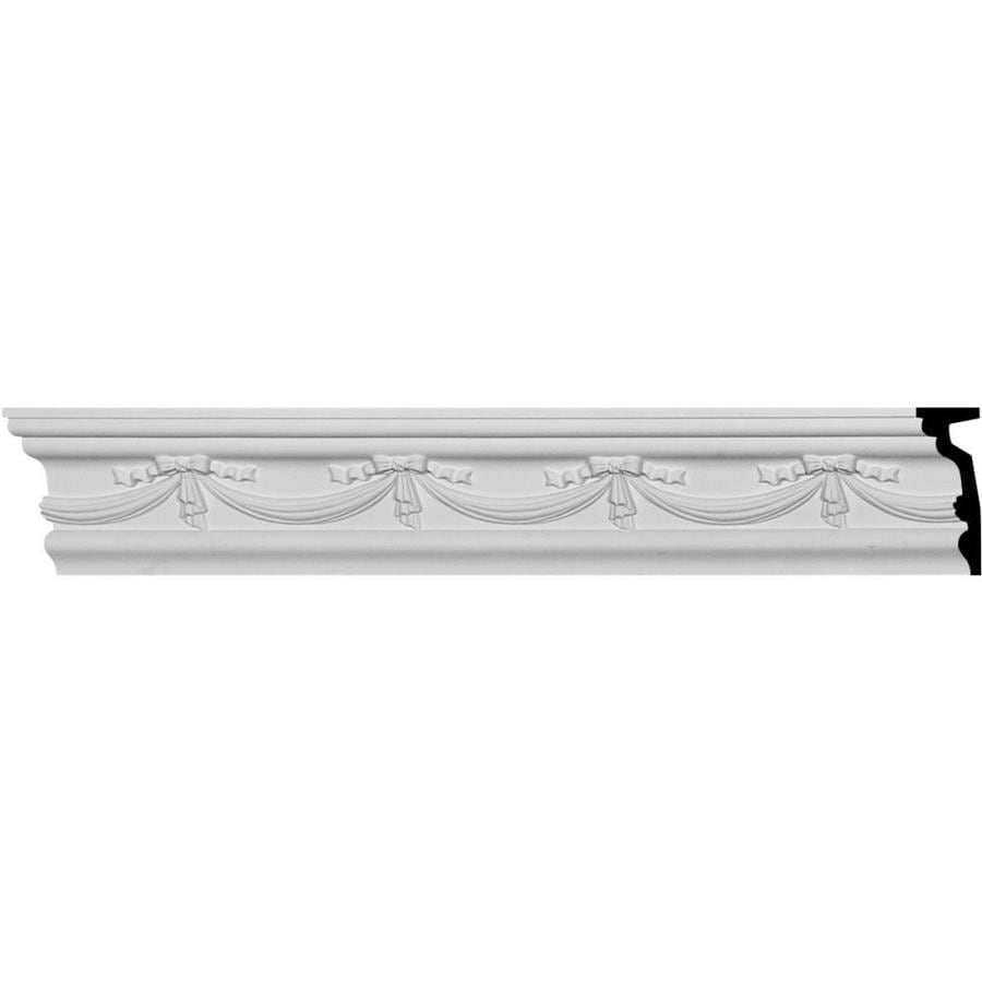 Ekena Millwork 4.5-in x 7.875-ft Primed Urethane Federal Chair Rail Moulding