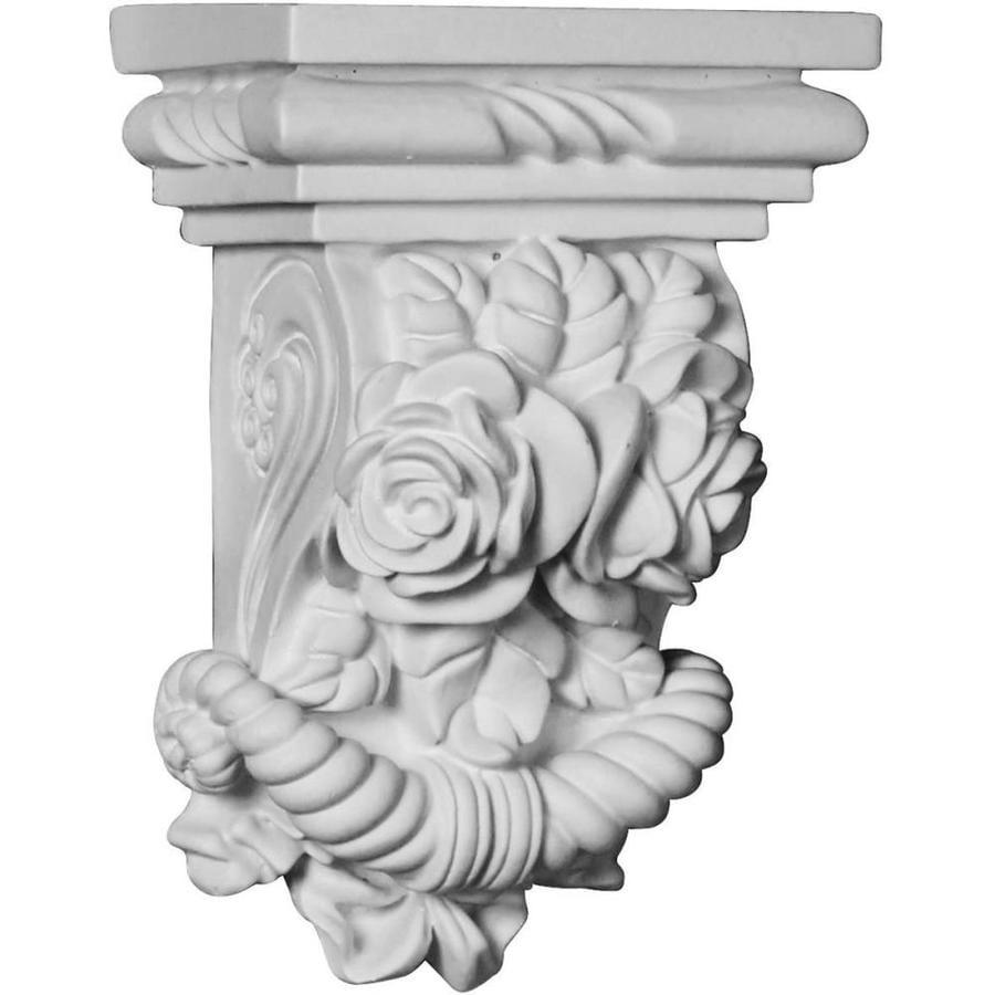 Ekena Millwork 3.875-in x 5.75-in White Rose Urethane Corbel