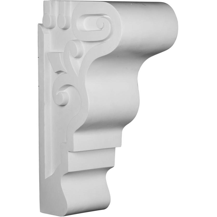 Ekena Millwork 7.375-in x 23.625-in White Tyrone Primed Polyurethane Corbel