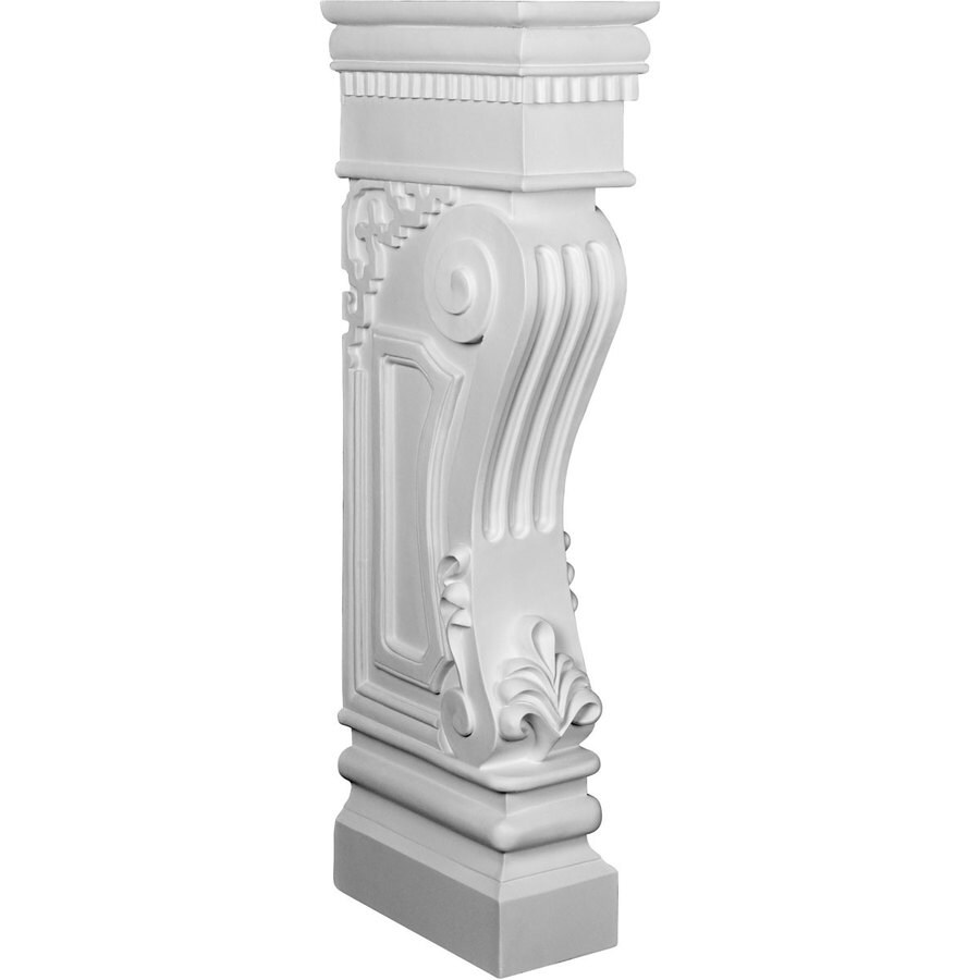 Ekena Millwork 6.375-in W x 34.125-in H White Architectural Fireplace Surround