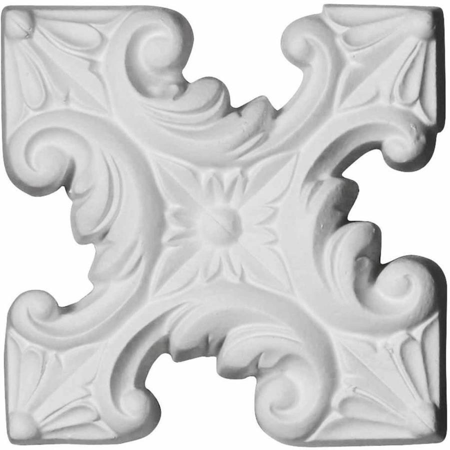 Ekena Millwork Star 4.5-in x 4.5-in Square Primed Urethane Rosette