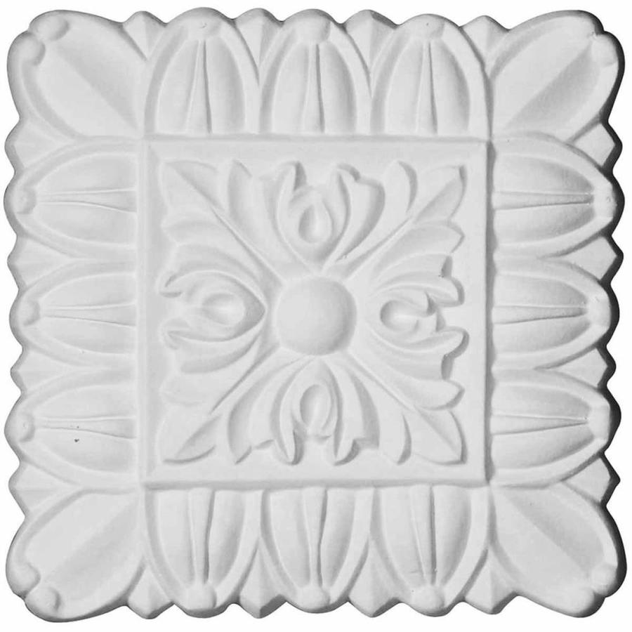 Ekena Millwork Baltimore 4.125-in x 4.125-in Square Primed Urethane Rosette