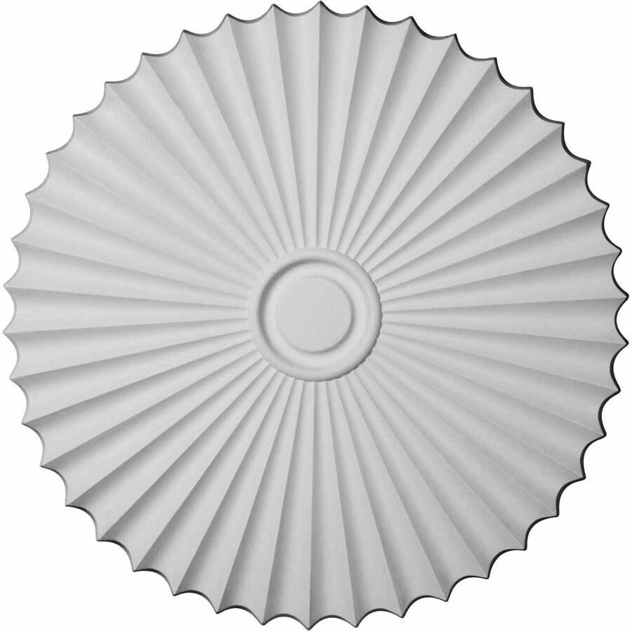 Ekena Millwork Shakuras 33.875-in x 33.875-in Urethane Ceiling Medallion