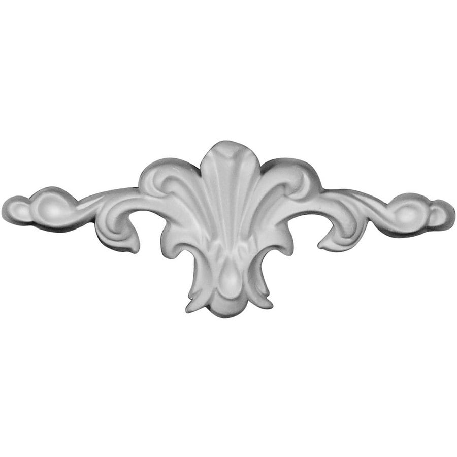 Ekena Millwork Amelia 5.375-in x 2.375-in Flower Primed Urethane Applique