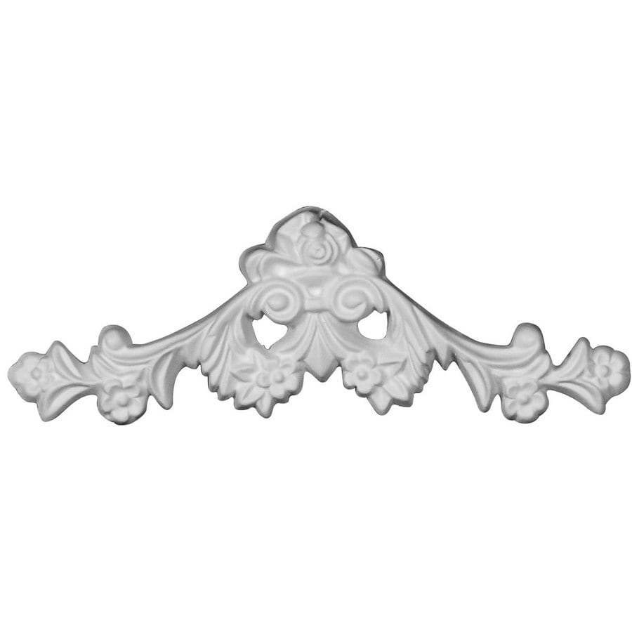 Ekena Millwork Dublin 6.5-in x 2.375-in Flower Primed Urethane Applique