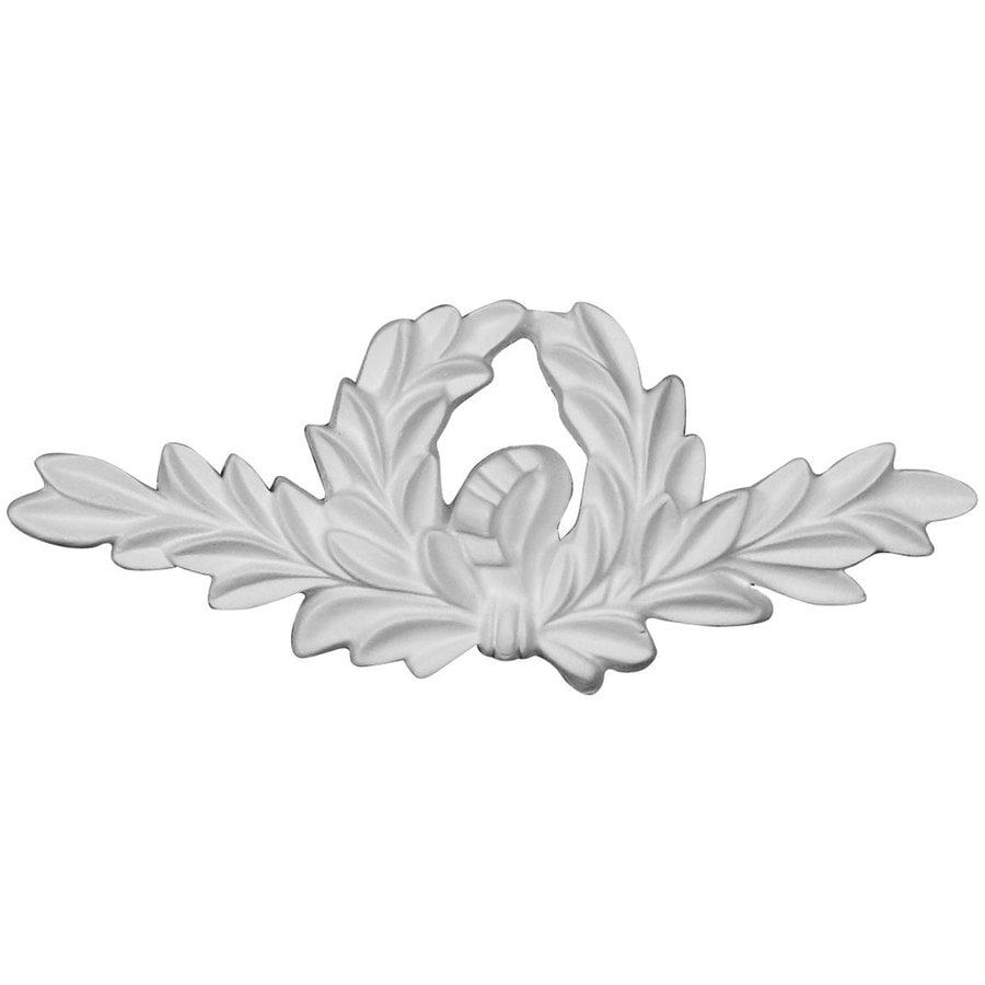 Ekena Millwork Wreath 6.375-in x 2.625-in Wreath Primed Urethane Applique