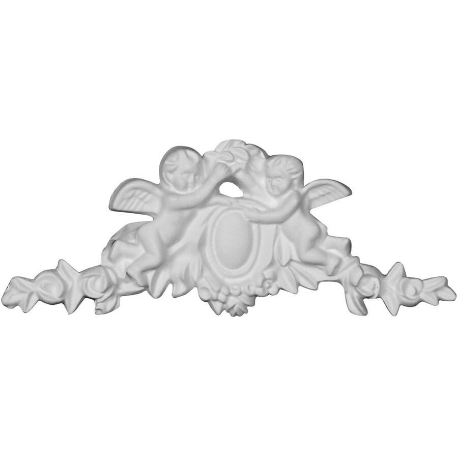 Ekena Millwork Angel 6.5-in x 2.625-in Primed Urethane Applique