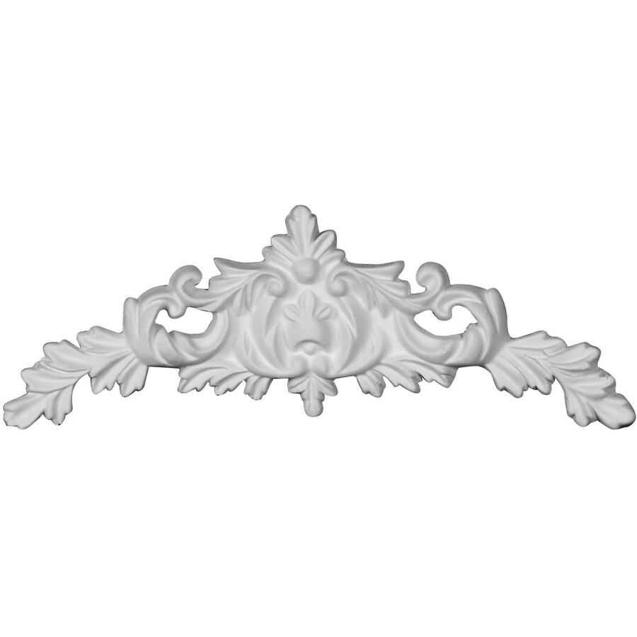 Ekena Millwork Gladstone 6.875-in x 2.625-in Flower Primed Urethane Applique