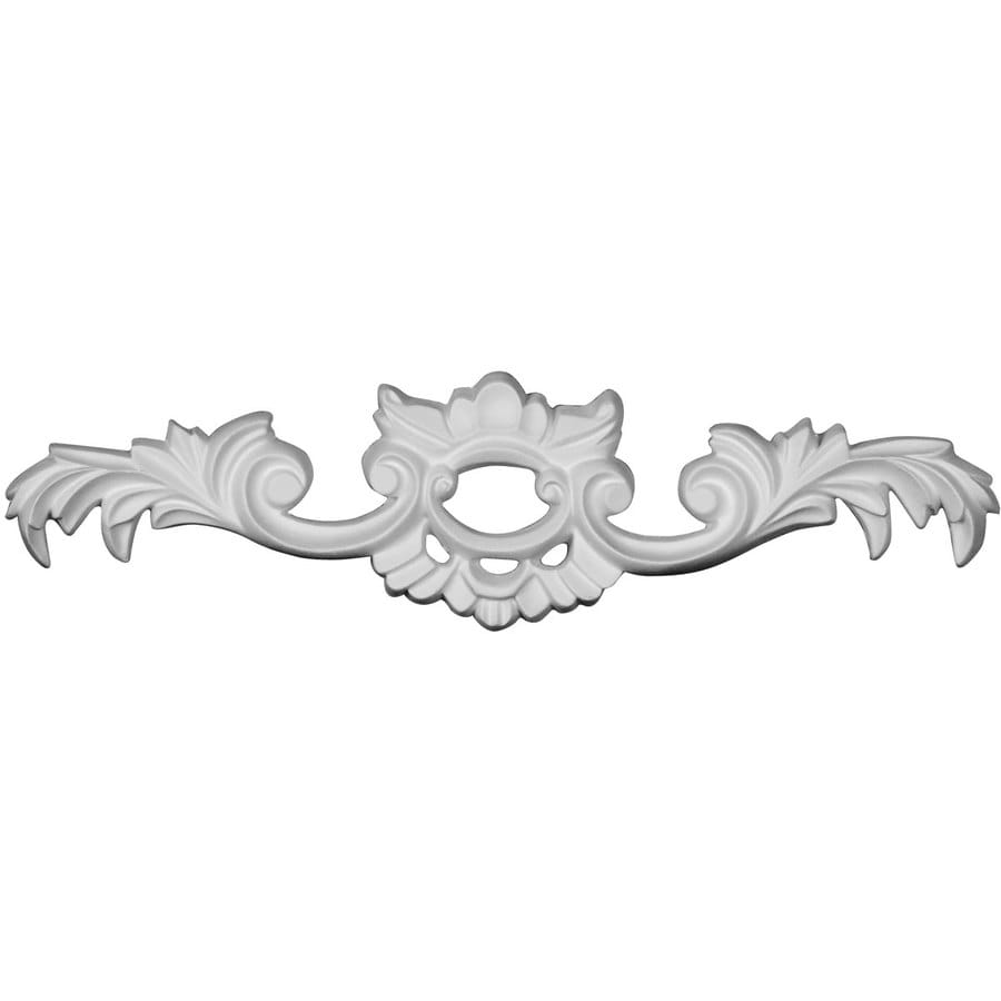 Ekena Millwork Cole 10.5-in x 2.625-in Leaf Urethane Applique