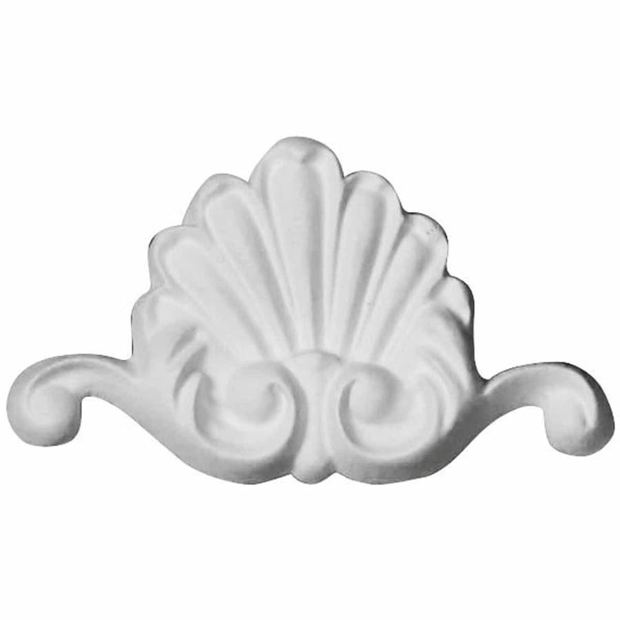 Ekena Millwork 3-in x 1.75-in Shell Primed Urethane Applique