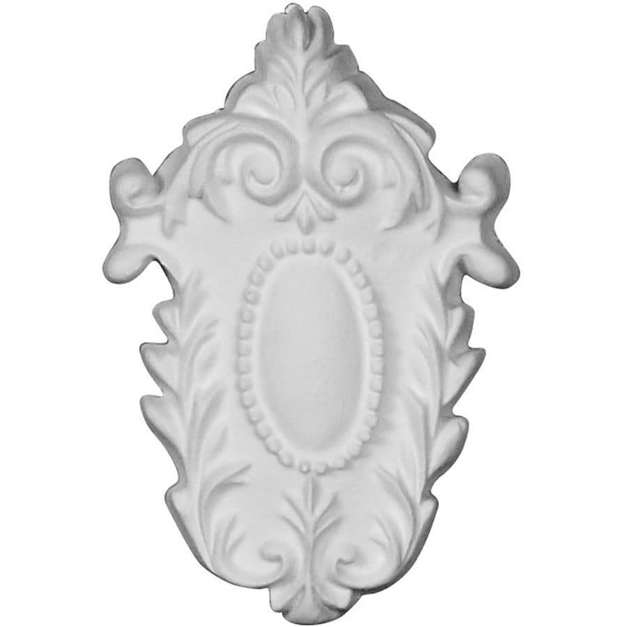 Ekena Millwork Cole 2.375-in x 3.625-in Shield Primed Urethane Applique