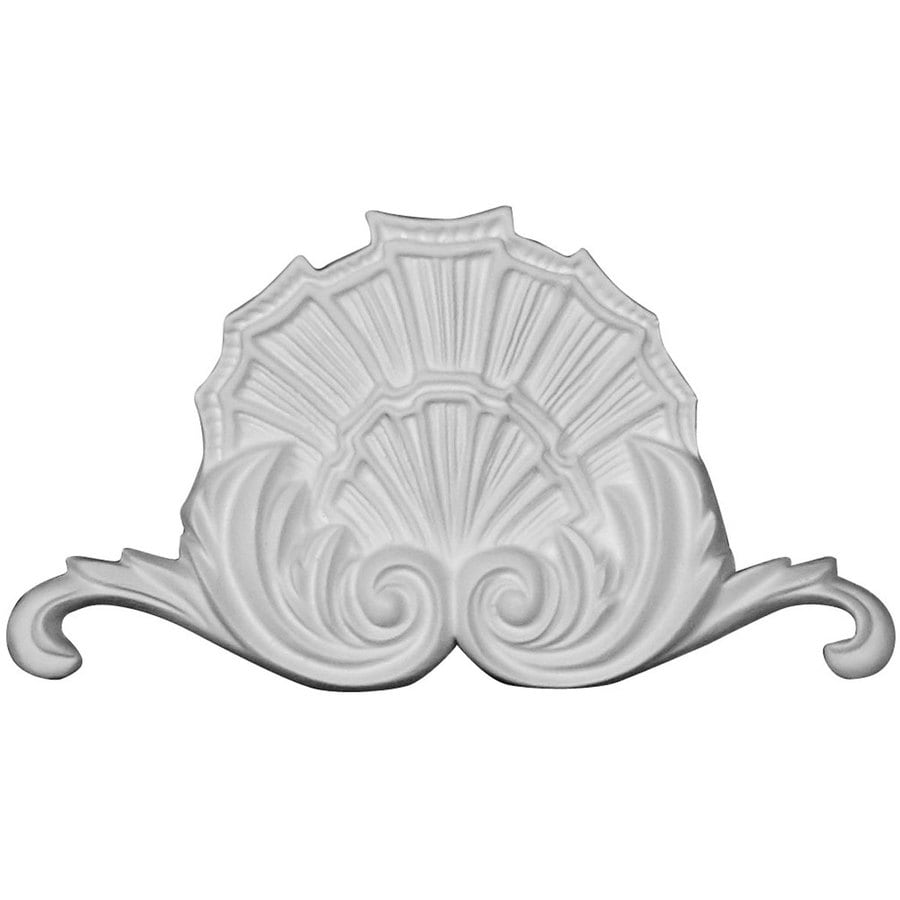 Ekena Millwork Modern 6.5-in x 3.625-in Shell Primed Urethane Applique