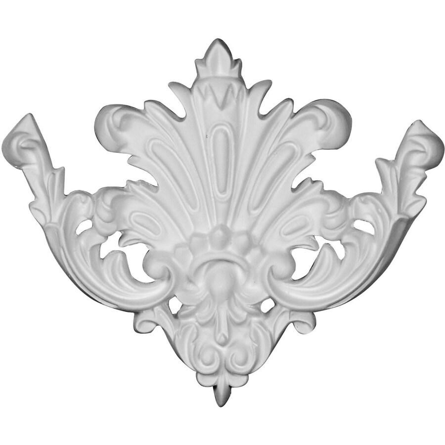 Ekena Millwork Gladstone 6.125-in x 6.125-in Flower Primed Urethane Applique