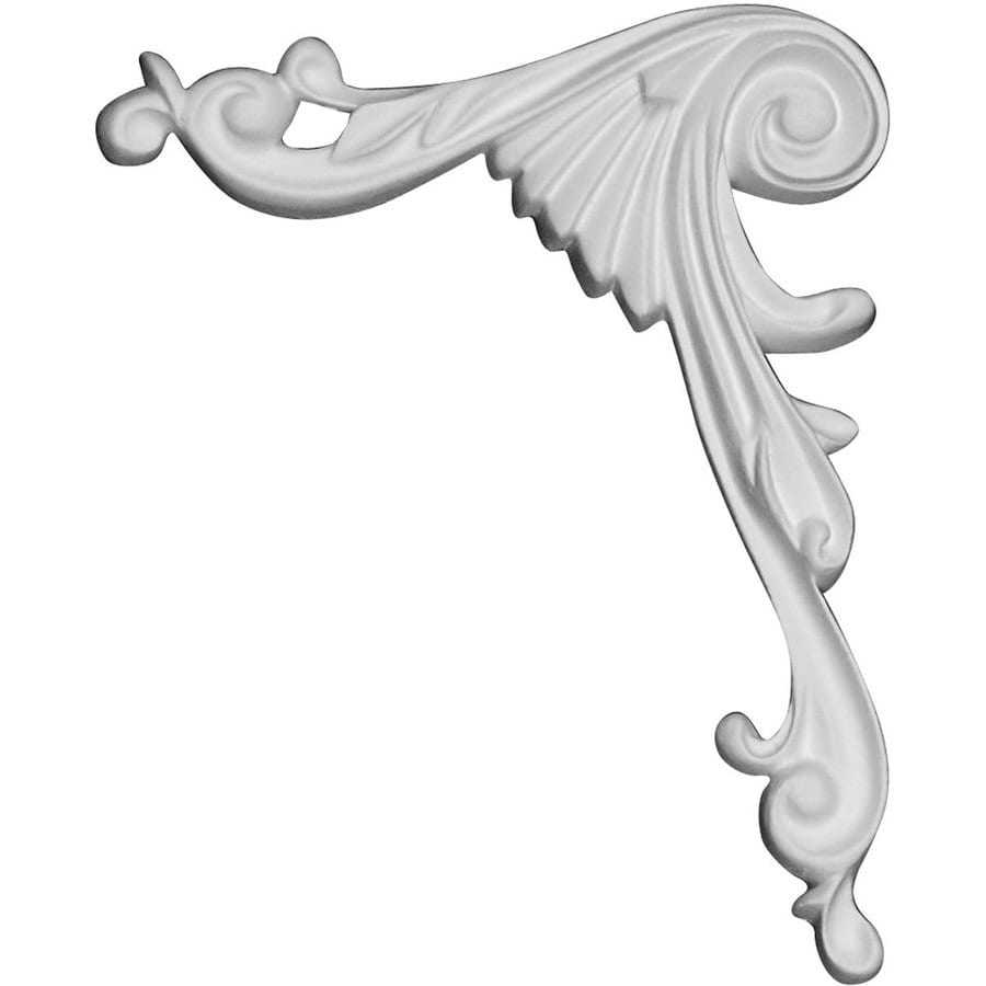 Ekena Millwork Loera 4.75-in x 5.875-in Scroll Primed Urethane Applique