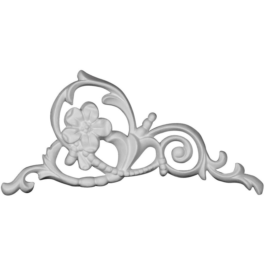 Ekena Millwork Colton 5.875-in x 4-in Flower Primed Urethane Applique