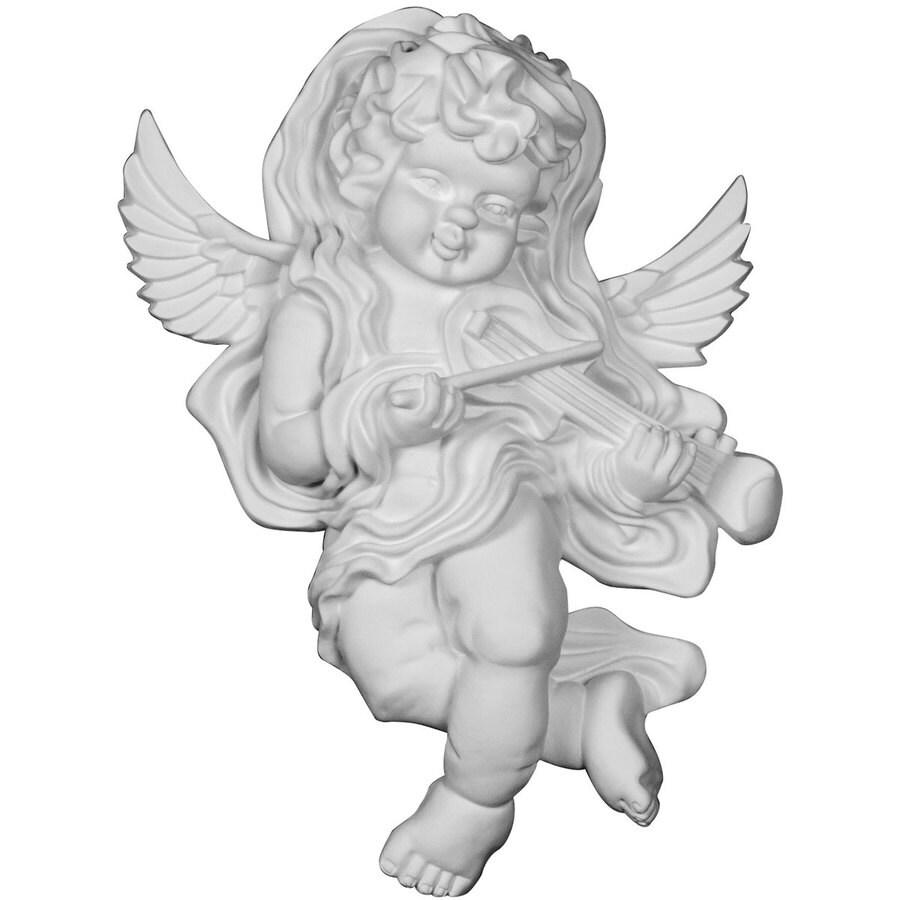 Ekena Millwork Classic 9.25-in x 13.375-in Angel Urethane Applique
