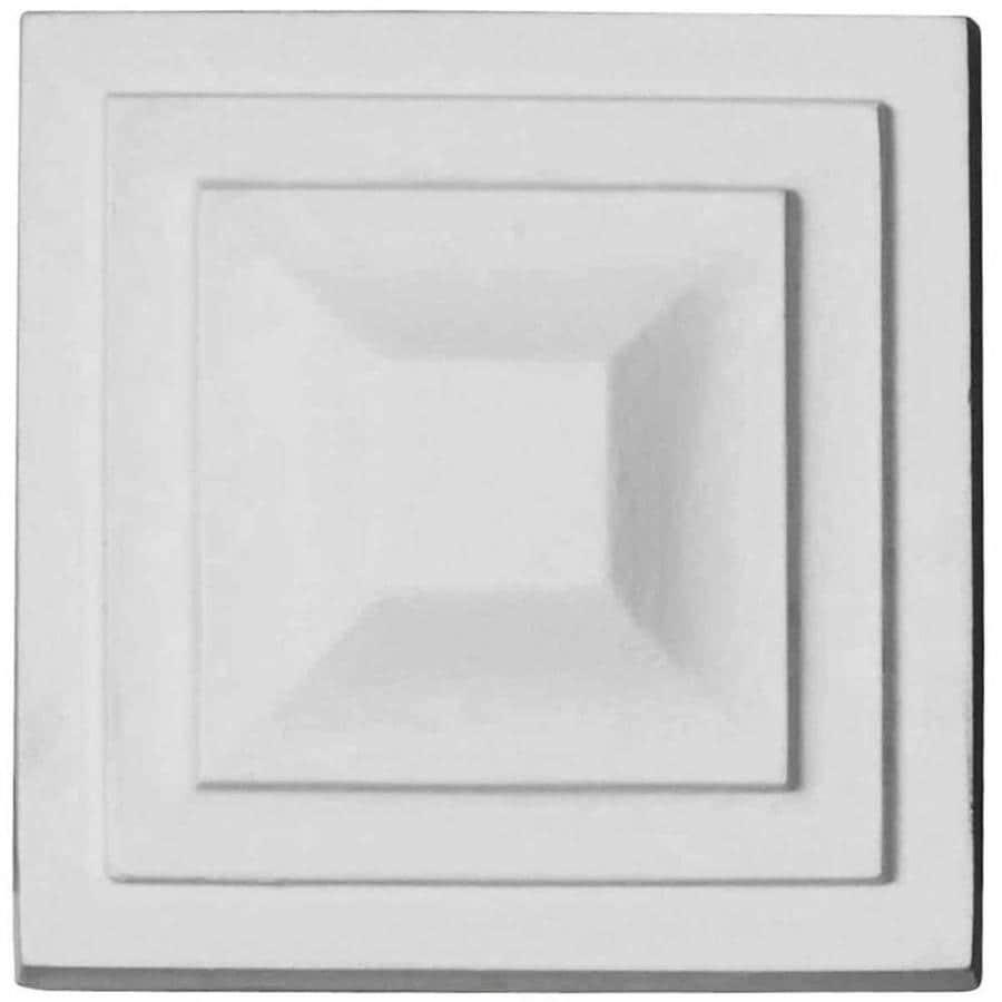 Ekena Millwork Dover 4.375-in x 4.375-in Square Primed Urethane Rosette