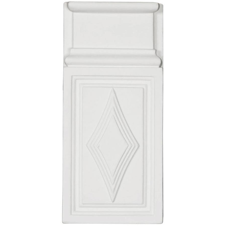 Ekena Millwork Diamond 4.375-in x 9.625-in Primed Polyurethane Plinth