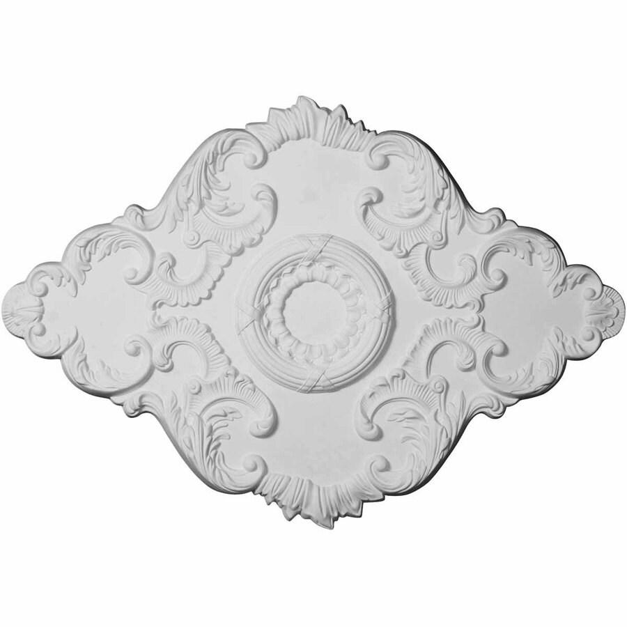 Ekena Millwork Piedmont 37-in x 26-in Urethane Ceiling Medallion