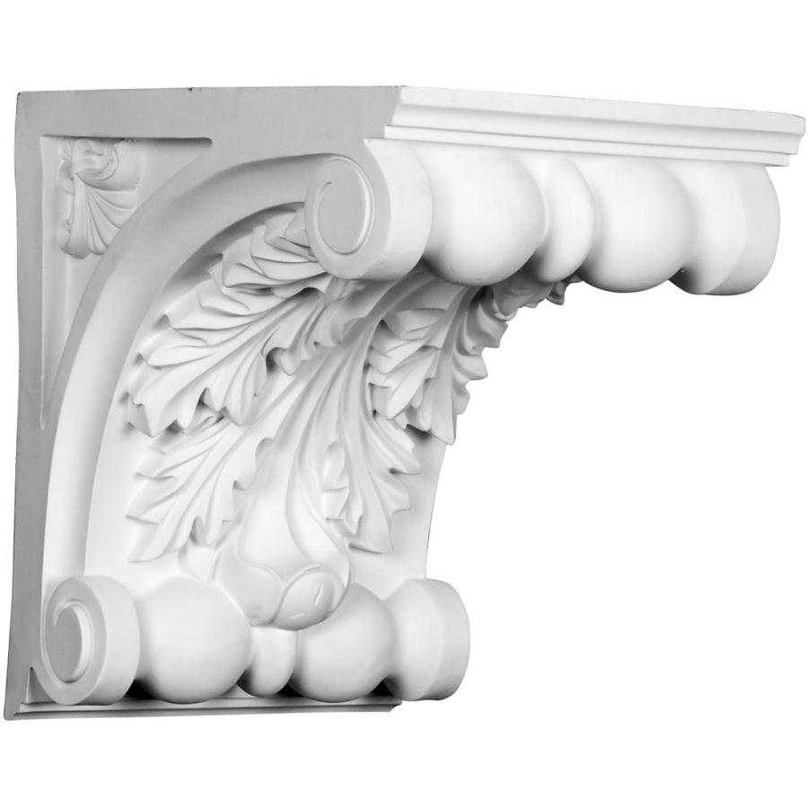 Ekena Millwork 13-in x 13-in White Chesterfield Primed Urethane Corbel