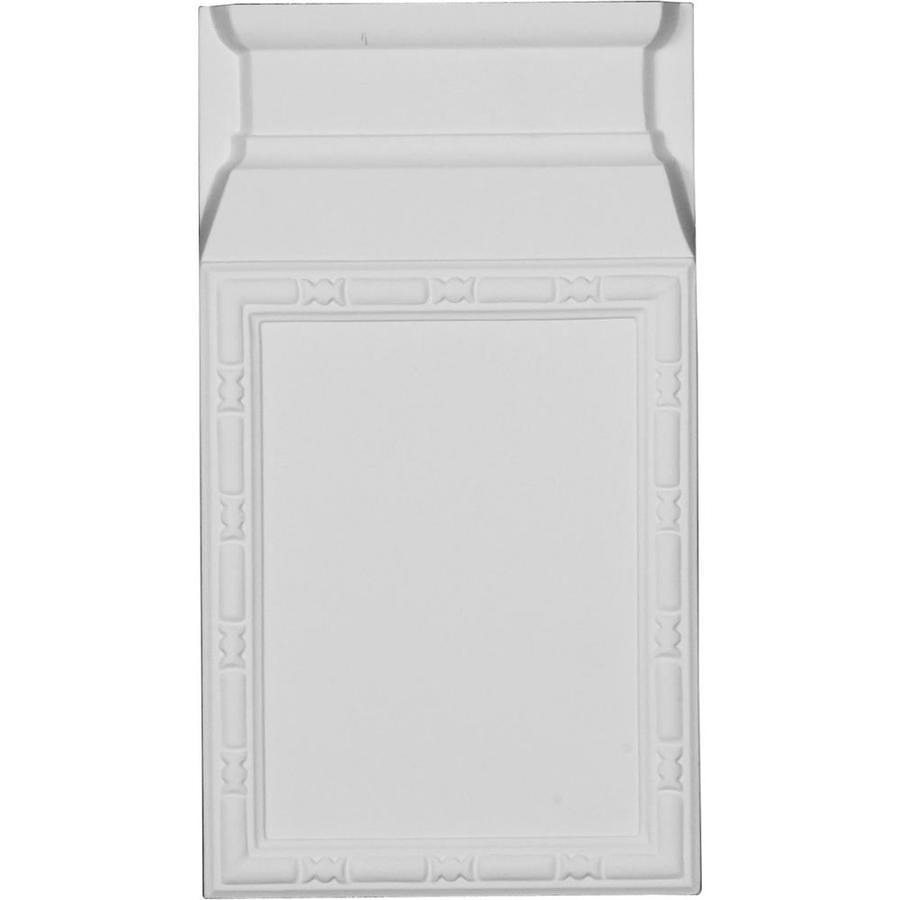 Ekena Millwork Odessa 6.5-in x 11.625-in Primed Urethane Plinth