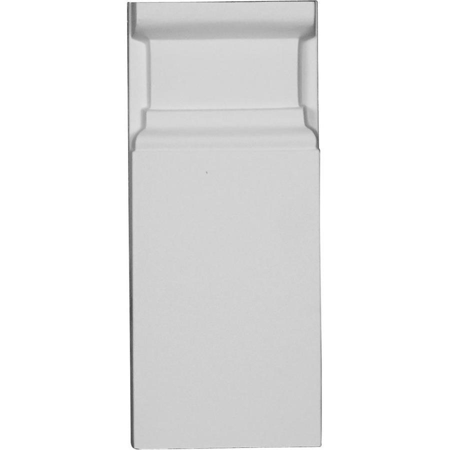 Ekena Millwork Artisan 3.75-in x 9.125-in Primed Urethane Plinth