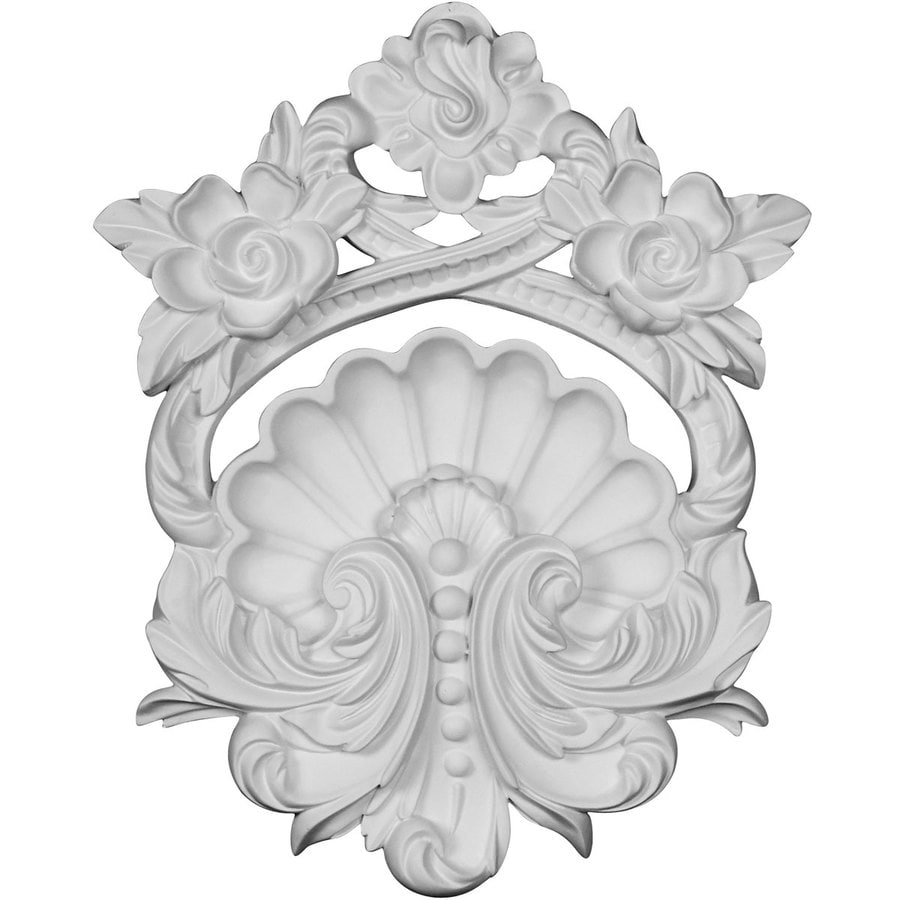 Ekena Millwork Pesaro 8-in x 9.875-in Shell Urethane Applique