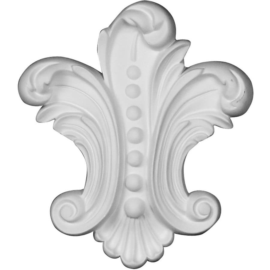 Ekena Millwork Beaded 4.625-in x 5.375-in Bead Primed Urethane Applique