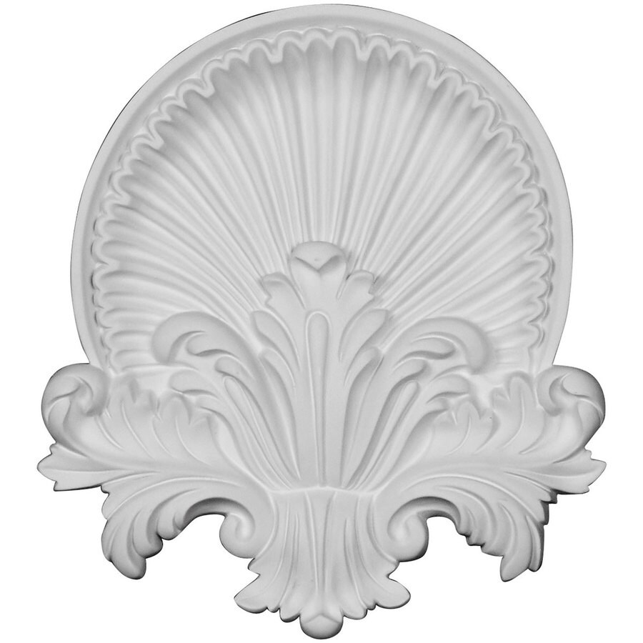 Ekena Millwork Shell 10.625-in x 11.75-in Primed Urethane Applique
