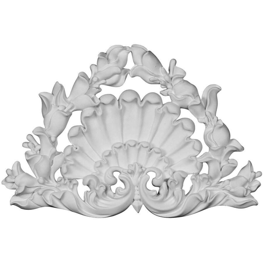 Ekena Millwork Shell 8.25-in x 5.25-in Shell Primed Urethane Applique