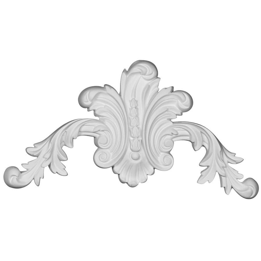 Ekena Millwork Beaded 11-in x 5.625-in Primed Urethane Applique