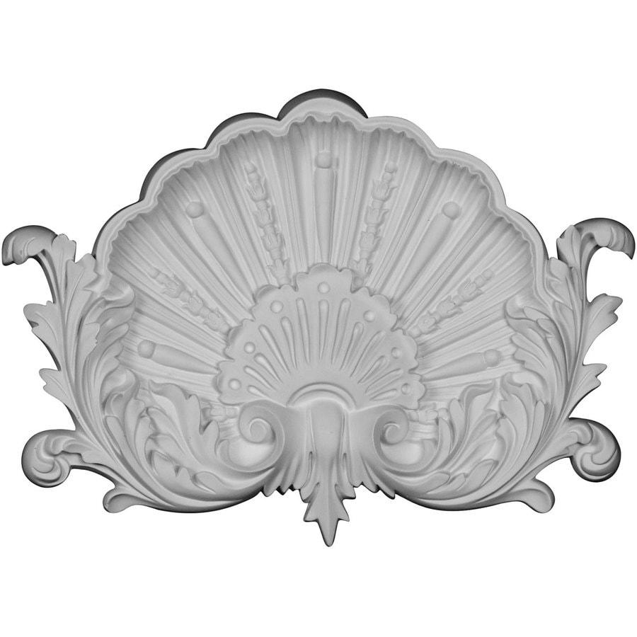 Ekena Millwork Shell 13.75-in x 9.75-in Primed Urethane Applique