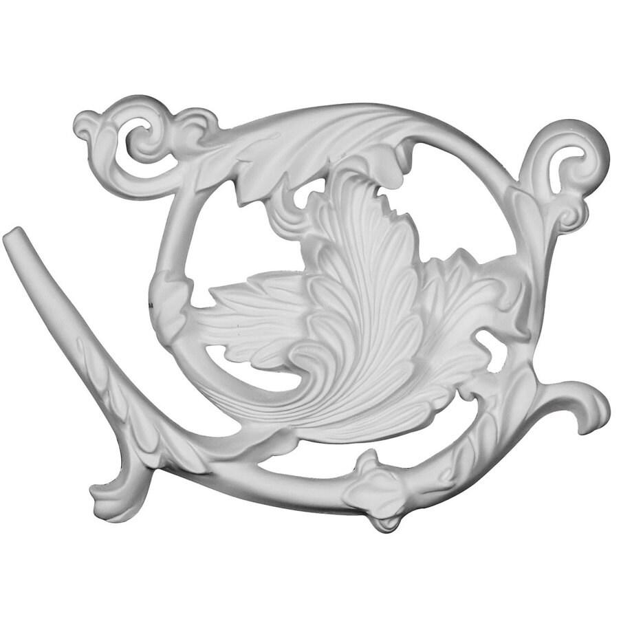 Ekena Millwork Bonetti 8.875-in x 5.875-in Leaf Primed Urethane Applique