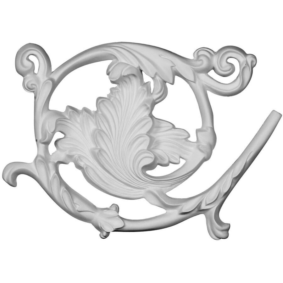 Ekena Millwork Bonetti 8.875-in x 5.875-in Leaf Urethane Applique