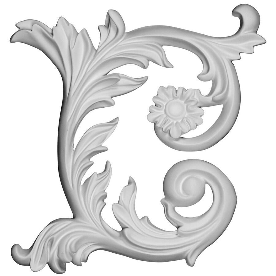 Ekena Millwork Fairfax 9-in x 9-in Leaf Primed Urethane Applique