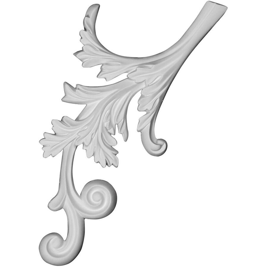 Ekena Millwork Juniper 14.5-in x 7-in Flower Urethane Applique
