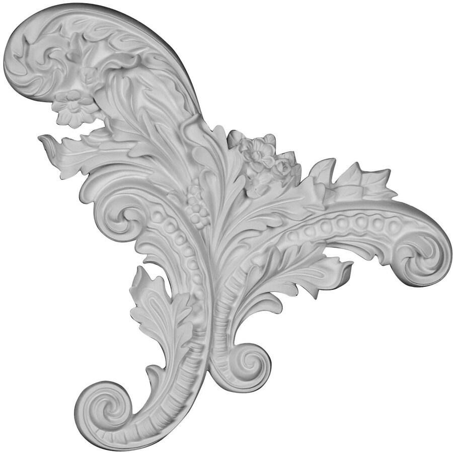 Ekena Millwork Katheryn 12.25-in x 11.25-in Leaf Primed Urethane Applique