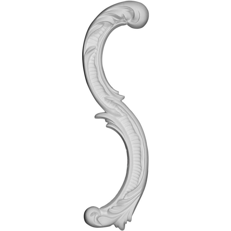 Ekena Millwork Gorleen 12.25-in x 1.25-in Leaf Primed Urethane Applique