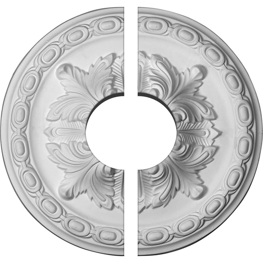 Ekena Millwork Acanthus 11.375-in x 11.375-in Urethane Ceiling Medallion